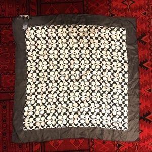 Coach Accessories - COACH signature 100% silk logo patterned scarf